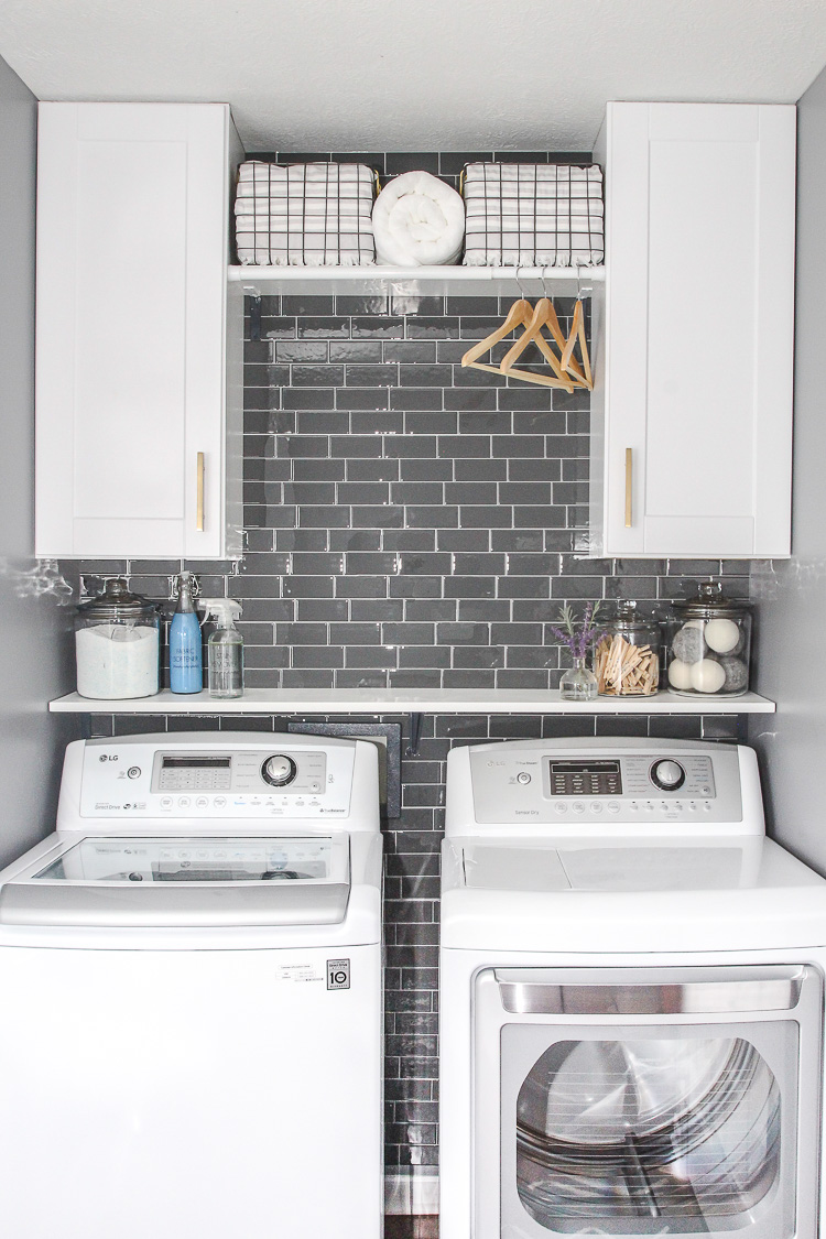 Laundry Room Update With Peel And Stick Tile Backsplash Lydi Out Loud
