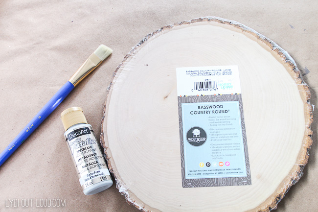 Supplies for DIY Fall Sign