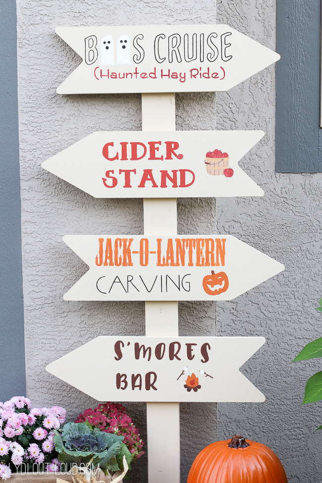 Fall Festival Sign - perfect for fall lawn decor!