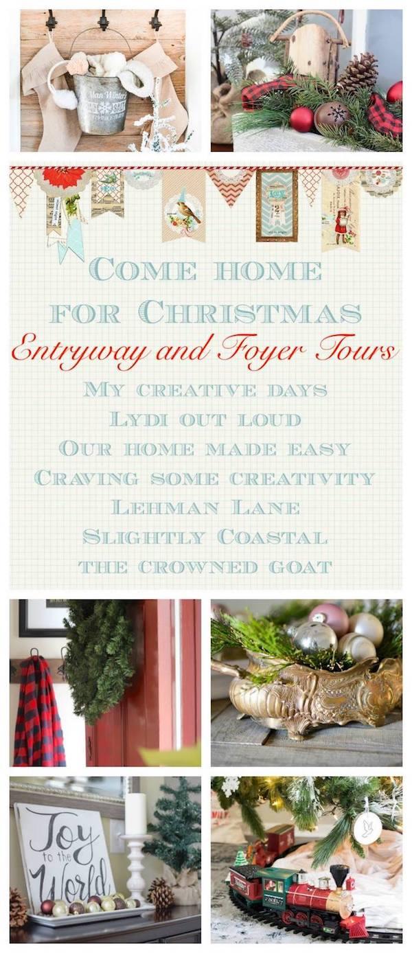 Christmas Entryway Tour #Christmasentryway #ChristmasDecor