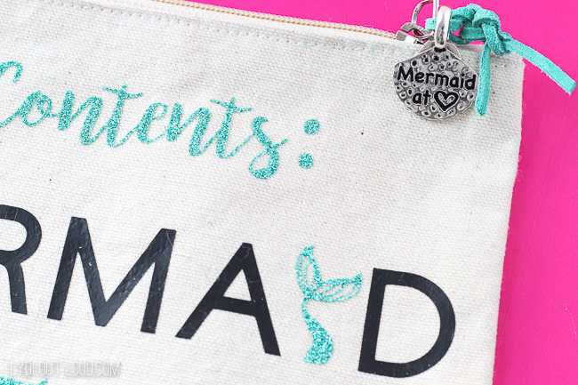 DIY Mermaid Makeup Bag and Charm Zipper Pull