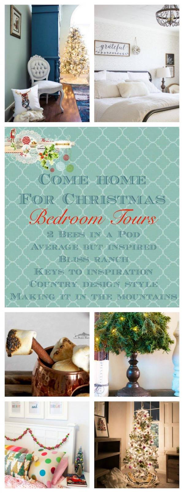 Christmas Bedroom Tours #ChristmasHomeTour #ChristmasDecor
