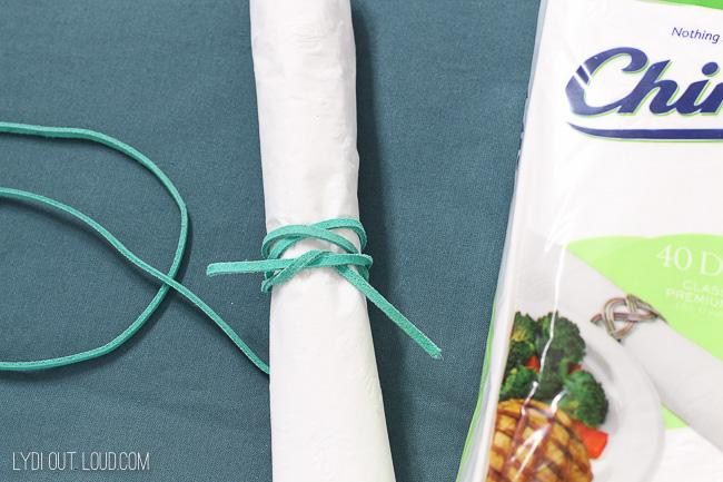 Boho Glam Tablescape - DIY napkin rings