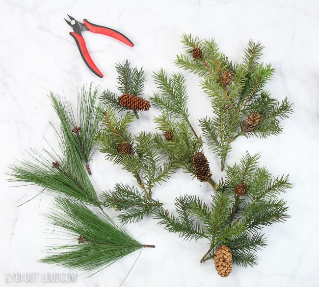 Embroidery Hoop wreath supplies
