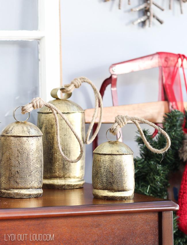 Vintage Christmas Bells #Christmasbells #vintageChristmasdecor #Christmasdecor