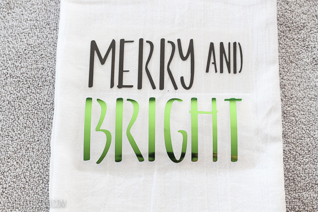 Iron-on Christmas tea towels