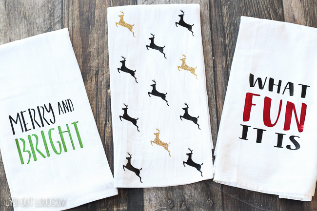 DIY Christmas Tea Towels Tutorial