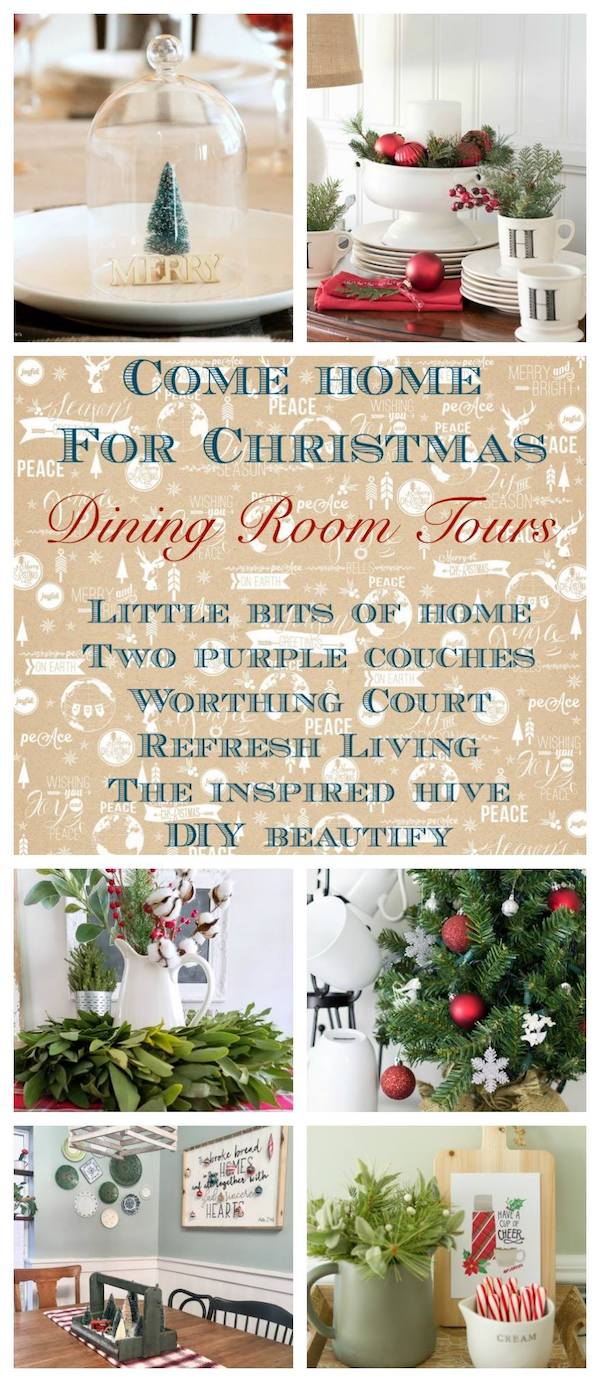 Christmas Dining Room Tours #ChristmasHomeTour #ChristmasDecor