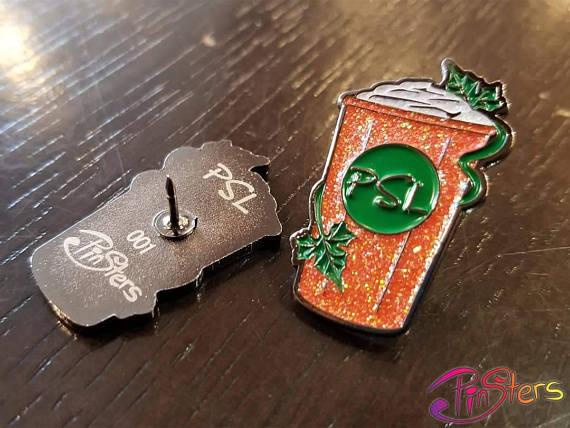 PSL Enamel pin - so cute@! #PSL #PumpkinSpiceLatte