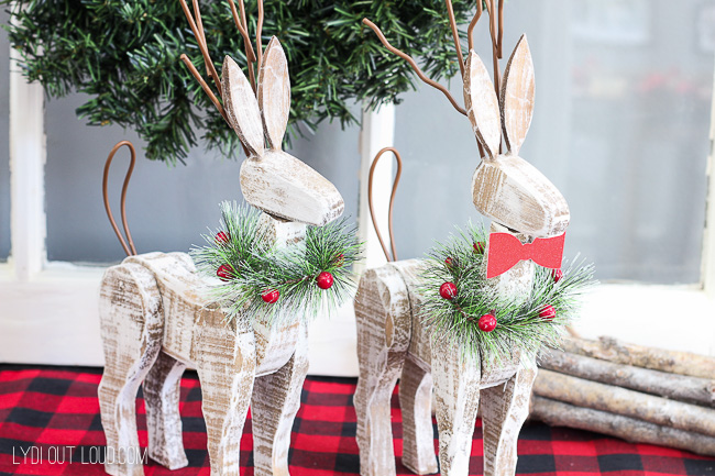 Beautiful rustic Christmas decorations