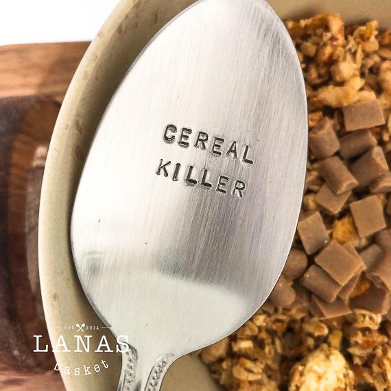 Cereal Killer Stamped Spoon