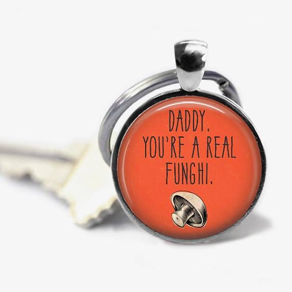Pun Dad Keychain - White Elephant Gift Ideas