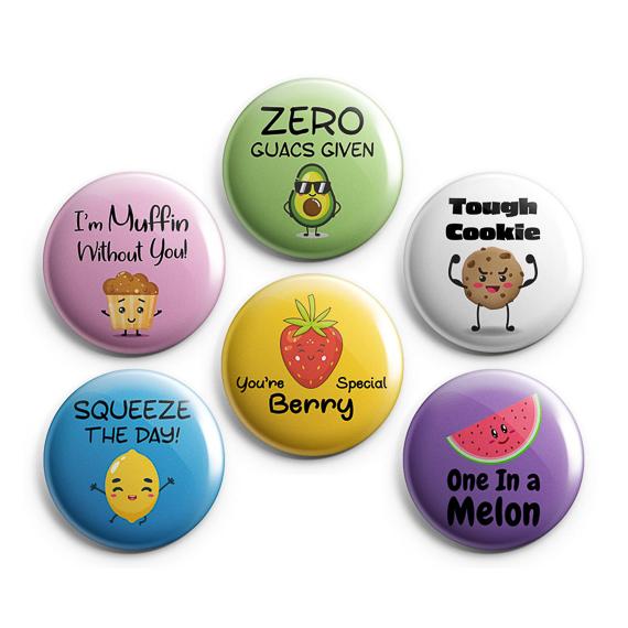 food puns buttons pun gift ideas
