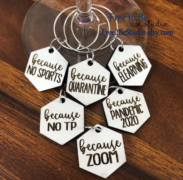 Funny wine charms