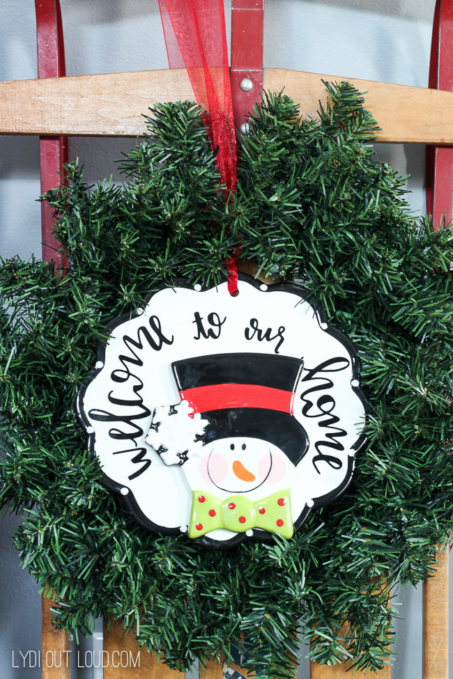 Welcome to Our Home sign - unique gift ideas #Christmasdecor #Christmasgifts #snowman