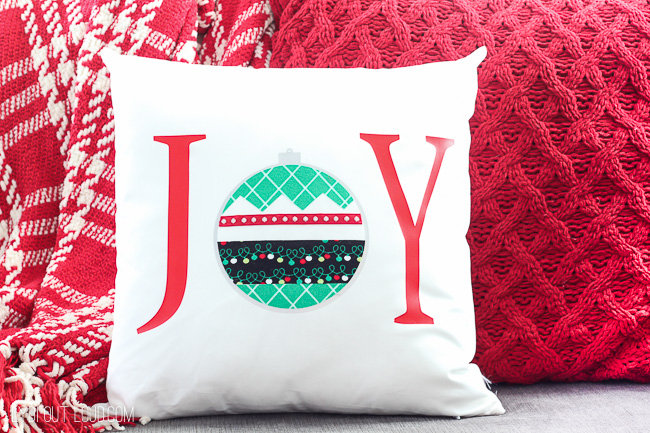 DIY No-Sew Christmas Pillow Tutorial with the Cricut Maker - Lydi Out Loud
