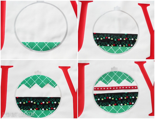 No-sew Christmas Pillow
