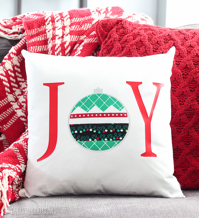 DIY No-Sew Christmas Pillow Tutorial with the Cricut Maker