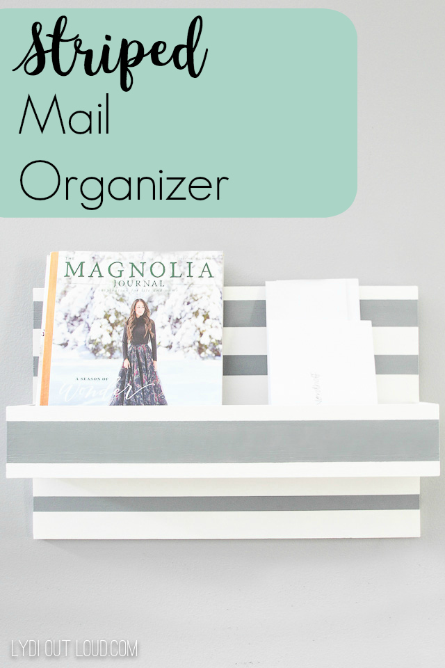 Striped Mail Organizer #organization #paintingstripes #mudroom #organizing