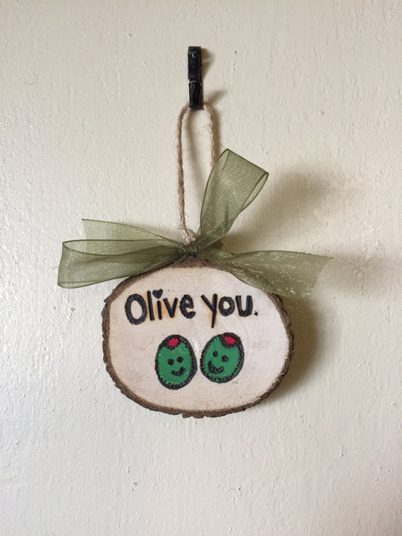 Olive You Ornament
