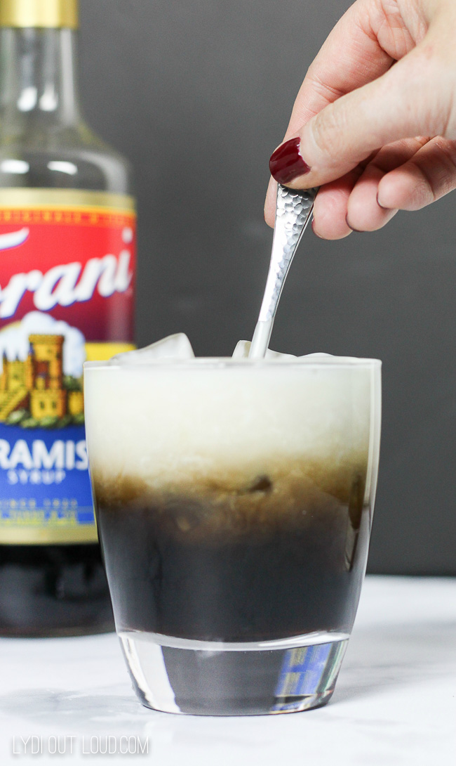 Tiramisu White Russian Cocktail recipe #Torani #tiramisu #whiterussian #cocktailrecipe