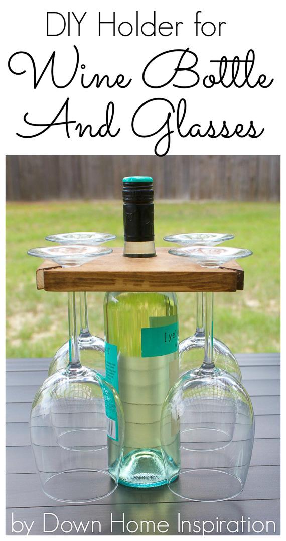 DIY Wine Bottle Holder Wine Accessory Gift Idea