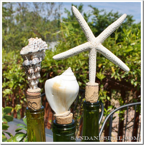 DIY Shell Wine Stoppers