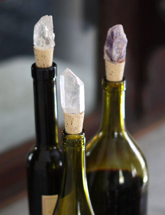 DIY Jeweled Crystal Wine Stoppers