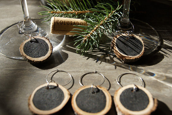 Chalkboard Wine Charms