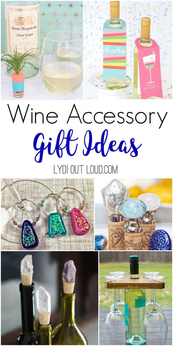Wine accessory gift ideas #diywinegifts #winecorkcrafts #diywinecharms #diygiftideas via @lydioutloud