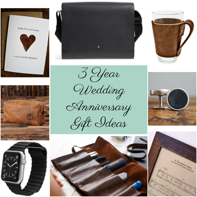 3 Year Anniversary Gift Ideas #3yearanniversarygifts #3weddinganniversary #anniversarygifts #leathergifts