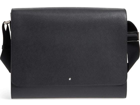 Black Leather Messenger Bag - #3yearanniversarygifts #anniversarygifts #leathergifts #giftsforhim