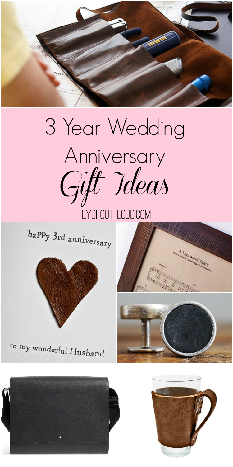 3 Year Anniversary Gift Ideas Lydi Out Loud