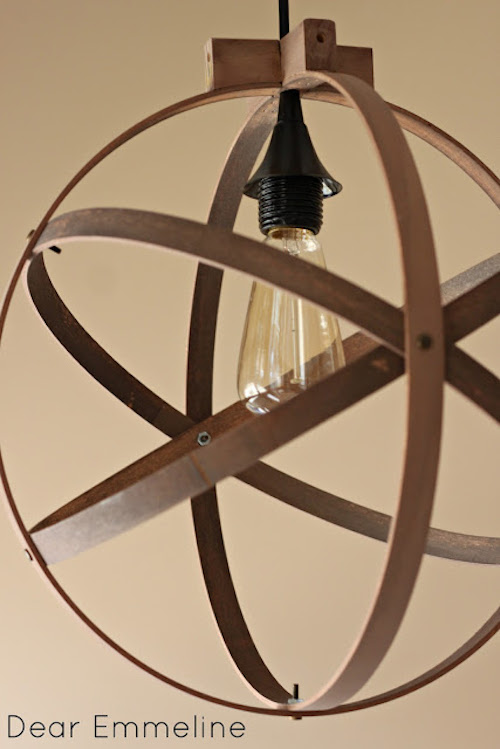 DIY_embroidery hoop pendant_light