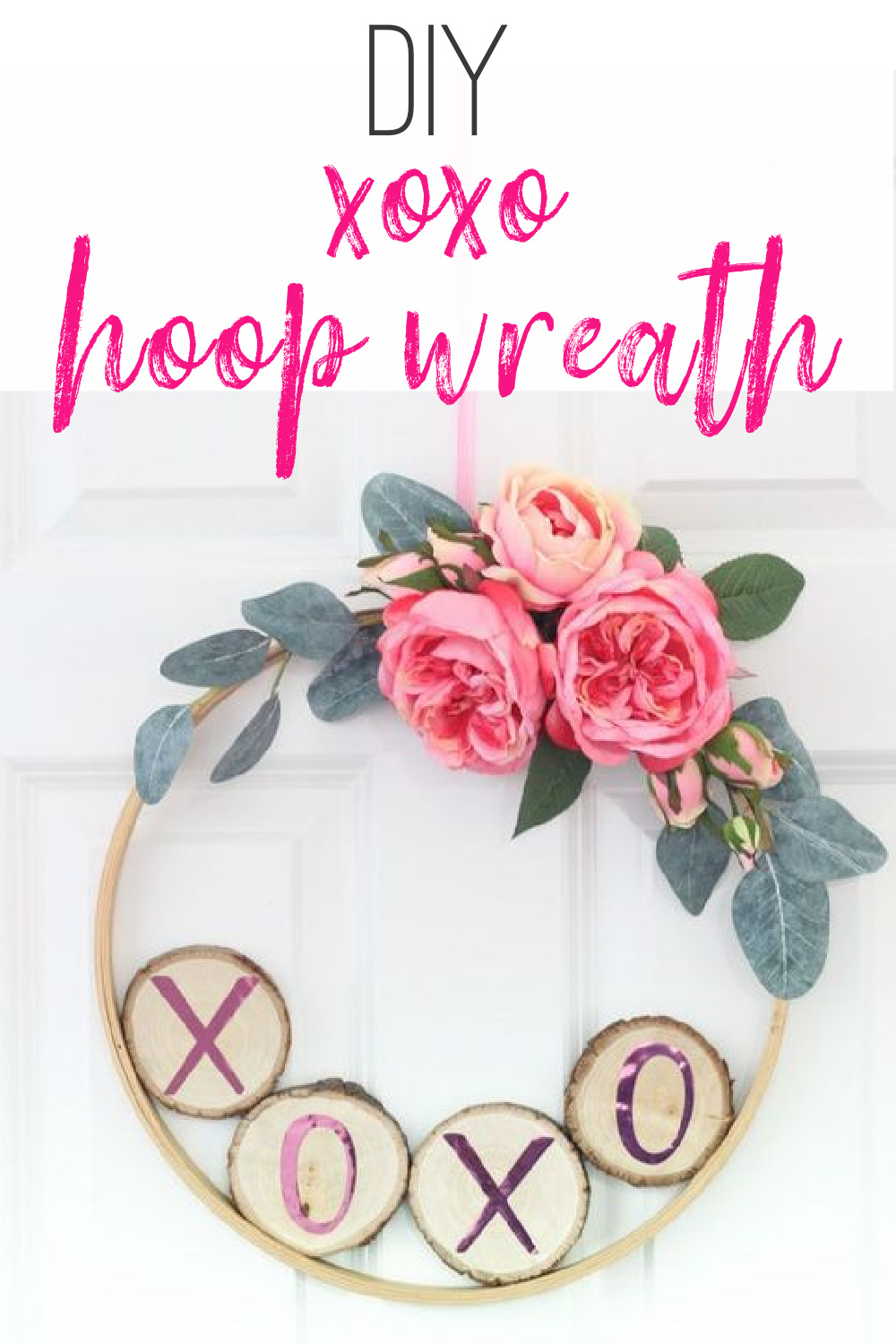 DIY Valentine's Day Hoop Wreath #hoopwreath #ValentinesDay #Valentinescrafts via @lydioutloud