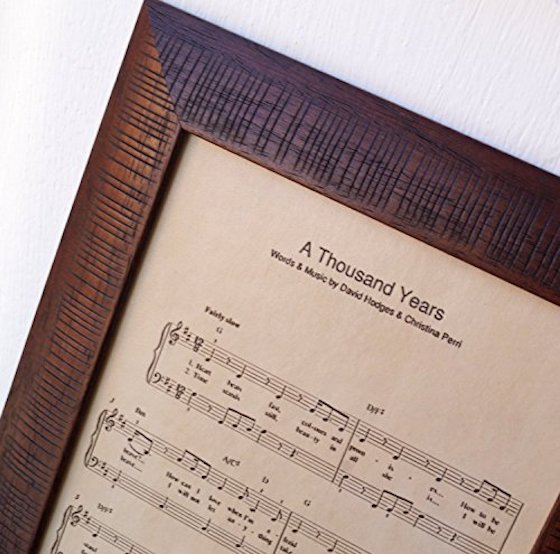 Custom Wedding Song Music Engraved On Leather