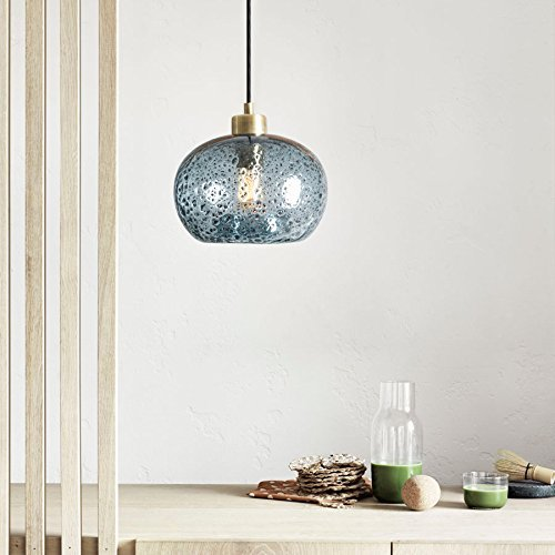 handblown glass pendant light