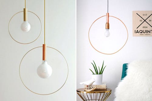 Minimalist Hoop Pendant Light