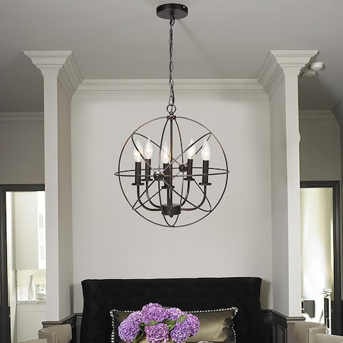 industrial metal chandelier