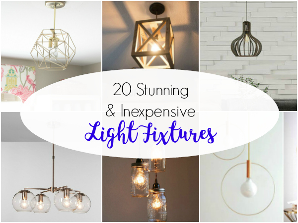 20 Inexpensive Light Fixtures to DIY or Buy #lightfixtures #homedecor #lighting