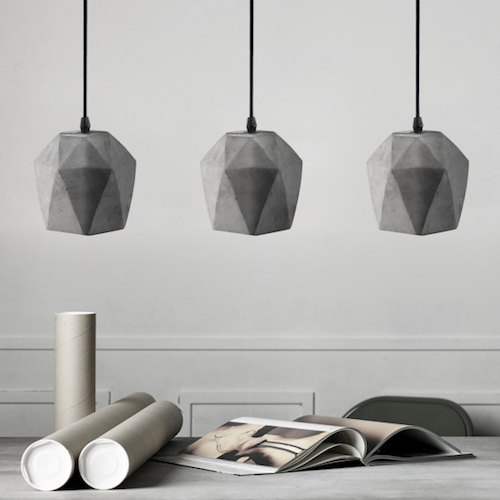 modern concrete pendant light
