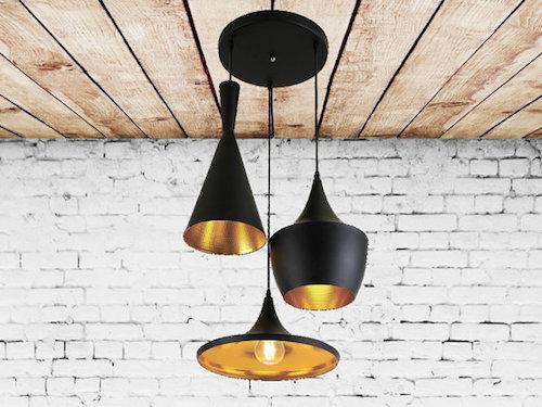 modern steel chandelier