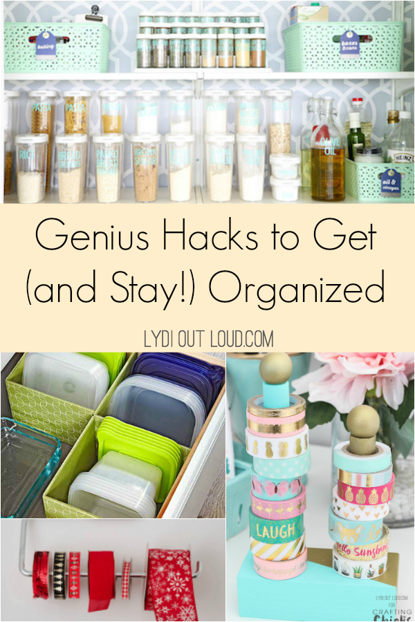 Genius hacks to get and stay organized! #organizationhacks #organizinghacks #organization