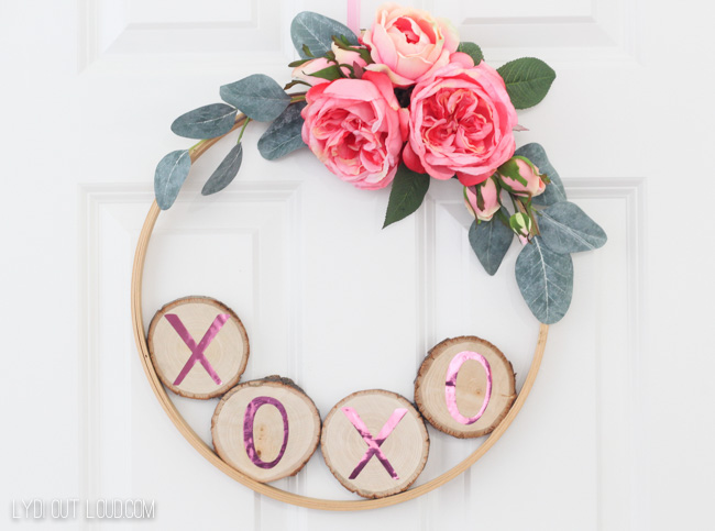 Valentine's Day Embroidery Hoop Wreath