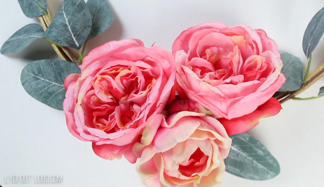 Beautiful faux English roses