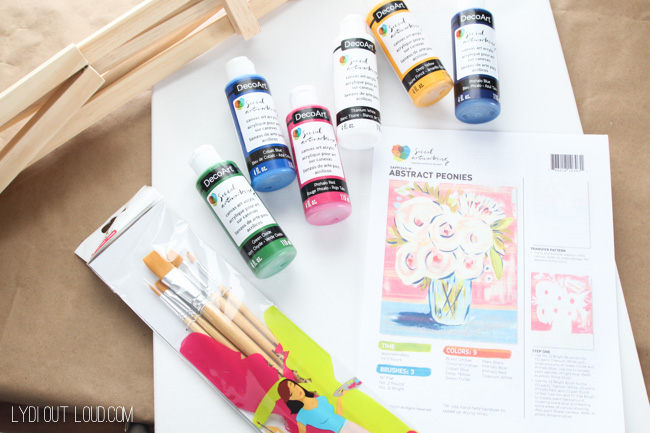 Social Artworking painting party kit