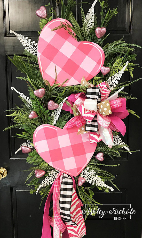 20 Sweet Valentine S Day Wreaths Lydi Out Loud