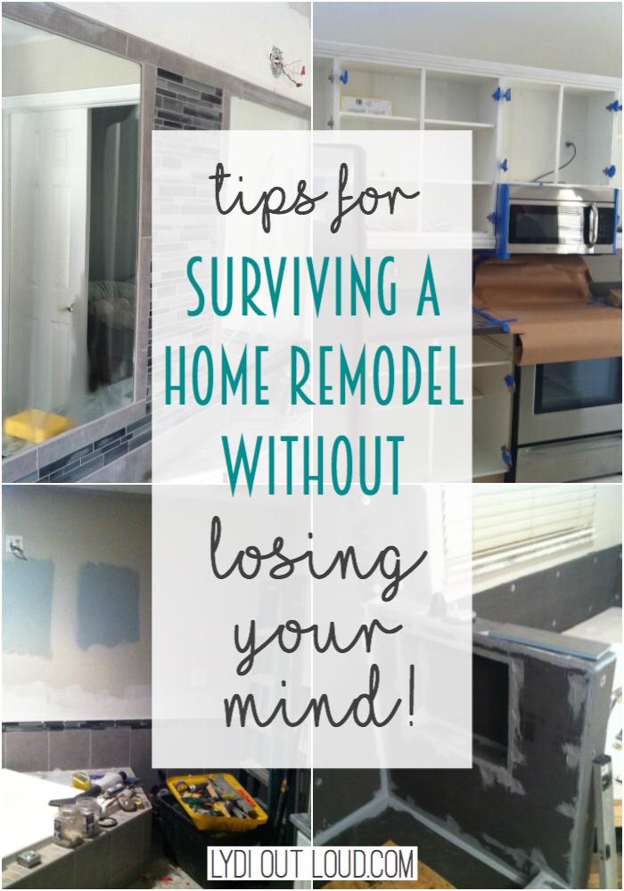Surviving a home remodel without losing your mind! #homeremodel #diy #homerenovation