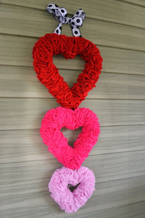 Triple Heart Valentine's Wreath