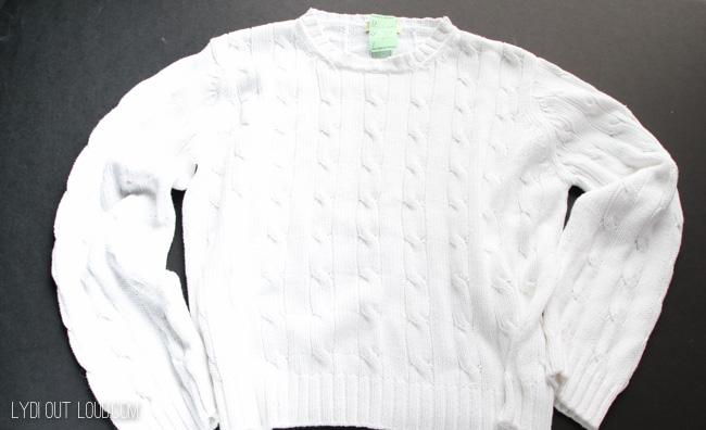 Thrift store sweater